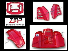 HONDA ATC250R 85 FIGHTING RED OEM COLOR FRONT AND REAR FENDER COMPLETE SET 1985