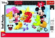 Trefl 15 Piece Baby Kids Unisex Mickey Minnie Mouse Frame Floor Jigsaw Puzzle