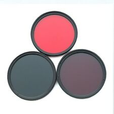 77mm 590nm+720nm+1000nm Infrared IR Optical Grade 3pcs Filter for Camera Lens