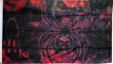 SKULL BLACK WIDOW SPIDER 5 X 3 FEET FLAG polyester flags Pirate goth gothic