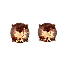Hot Selling Fashion Women Stud Earrings Glass Dot Faceted Stone Stud Earrings