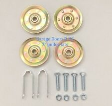 "Garage Door HEAVY DUTY Extension Spring 3"" Pulley Replacement Kit  FREE SHIPPING"