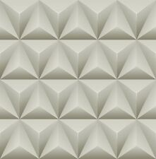 Wallpaper Designer Modern Geometric Dark Gray Light Gray Off White