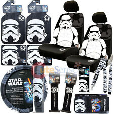 Star Wars Storm Trooper Low Back Car Seat Covers Accessories Complete 15pc Set