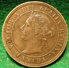 1901 XF-AU High Grade CANADA LARGE CENT Victoria COIN CANADIAN  .. ..