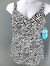 Swim Solutions One Piece Swimsuit Swim Dress Tummy Control Plus Size 20W NEW NWT