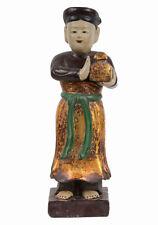 Vietnam 20. Jh. Holzfigur - A Vietnamese Wood Figure of a Donor - Vietnamien