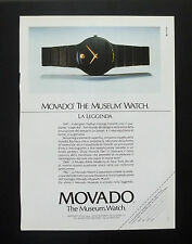 F132 - Advertising Pubblicità - 1992 - MOVADO MUSEUM WATCH