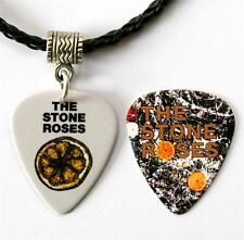 The Stone Roses Guitar Pick Black Necklace + Matching Plectrum Double Sided