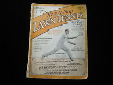 1933 How to Play Lawn Tennis Magazine VG
