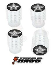 4 Aluminum Tire Air Valve Stem Caps Car Truck Bike Silver - SHERIFF BADGE B W8I