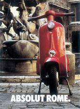 Vespa Absolut Rome Blechschild 8x11 cm Blechkarte Sign PC-201/468