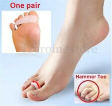 2x Silicone Gel Bunion Hammer Toe Straightener Separators Corrector Pain Relief