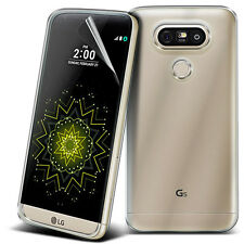 Ultra Thin Clear TPU Gel Skin Case Cover & LCD Film For LG G5