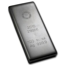 100 oz Silver Bar Royal Canadian Mint RCM .9999 Fine - SKU #92056