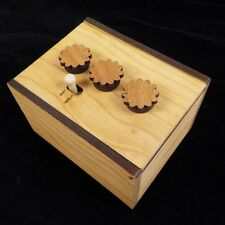 Secret Lock Puzzle Box II - Can You Open the Box?  Cherry version -Challenging
