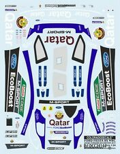 DECALS 1/24 FORD FIESTA RS WRC DECORATION STANDARD QATAR 2013 - COLORADO  24144