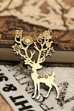 N1286 Retro Antique Style Sika deer Pendant Long Necklace Fashion Jewelry