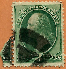 Late-19th C. US Stamp w/ Fancy Inscribed TRIANGLE Cancel ~Free Shipping....b16