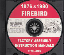 1976 and 1980 Firebird and Trans Am CD Assembly Manual 76-80 Pontiac Formula