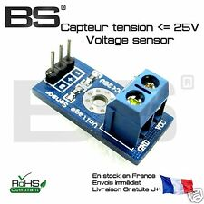 Capteur de tension voltage sensor 25V Raspberry Pi Arduino ESP