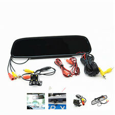 "4.3""LCD Car Rear View Mirror Monitor +4LED Night Vision Reverse Backup HD Camera"