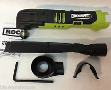 Rockwell RK2522K2 NEW Sonicrafter 12V Oscillating Tool w/dust extraction adapter