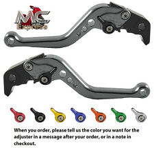 MC Short Adjustable CNC Levers Kawasaki Z1000SX NINJA 1000 Tourer 2011-2015 Grey
