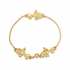 Disney Couture Gold-Plated Alice in Wonderland Cheshire Cat Bracelet