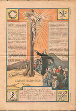 Pelerins Croix Jesus Christ Père Vincent de Paul Bailly France 1932 ILLUSTRATION