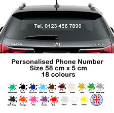 Telephone Number Sticker - Custom Vinyl Decal, Business Advertisement