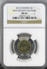 Canada 2012 $2 Toonie with Security Features NGC MS 66 Certified