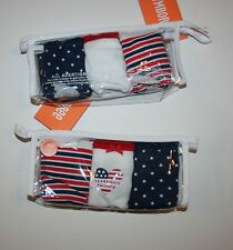 New Gymboree 3 Pack Panties Underwear 10 12 yr  NWT July 4th Stars Stripes Heart