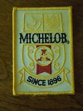 """Michelob Budweiser """"Since 1896""""  Rectangle Sewing Patch - Gold, Red and Cream"""