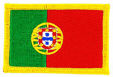 FLAG PATCH PATCHES PORTUGAL PORTUGUESE IRON ON COUNTRY EMBROIDERED WORLD FLAG