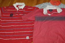 3 men's shirts large American eagle gray Red casual short sleeve polo rugby EXCl