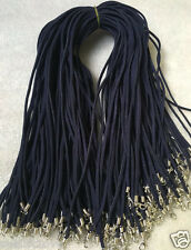 Wholesale price 10 strips dark blue Suede Leather String 50cm Necklace Cord new