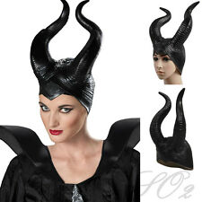 New Adult Womens Disney Maleficent Disguise Deluxe Black Horns Halloween Costume