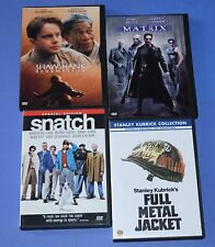 4 DVD lot - Shawshank Redemption, Full Metal Jacket, Snatch, Matrix