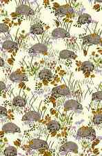 Inprint Jane Makower Fabric Hedgehogs Pale Yellow