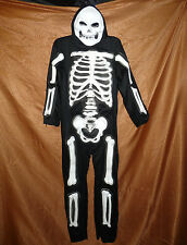 Totally Skelebones costume - white - boys medium (8-10) - HALLOWEEN NWT