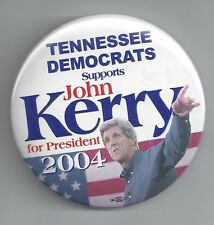 2004 JOHN KERRY - TENNESSEE DEMOCRATS SUPPORT PICTURE CAMPAIGN BUTTON