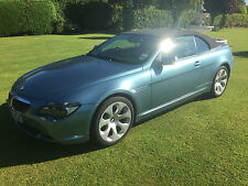 2004 54 Reg BMW 645 CI CONVERTIBLE AUTO METALLIC BLUE ONLY 32K MILES
