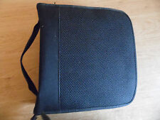 Black CD/DVD Zipped Storage Carry Case Wallet holds 144 Discs