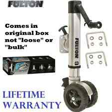 FULTON F2 TRAILER JACK TWIN TRACK BOLT ON 1600 LB 3X3&3X4 TONGUES W/ WHEEL WEDGE