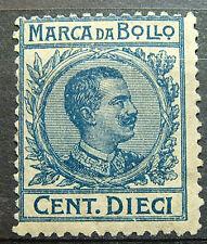 1920  ITALIA  10 centesimi  Marca da Bollo   floreale