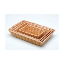 "Rectangular Polywicker Basket 16""X11""X3"" Diameter Restaurant catering Buffet"