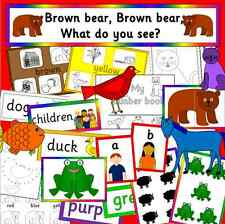 Brown Bear, Brown Bear story teaching resource on CD- colours, EYFS, KS1