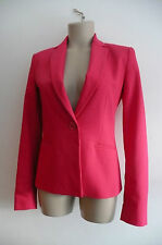 BNWT current ZARA vibrant pink FITTED JACKET coat S