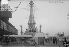 "US Navy USS Arizona Guns World War 1 6x4"", Reprint Photo a"